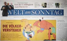 Asterix in Welt am Sonntag